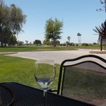 Debra C. view from patio of the ninth fairway.
