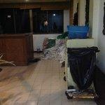 maid area in hallway