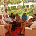 With friends at Lalit Goa