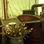 Copper tubs at the spa
