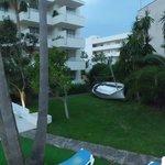 zona jardín/piscina hotel