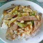 Pig liver rice