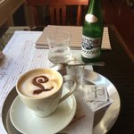 Coffee and mineral water