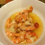 shrimp in butter w/garlic (not cleaned before cooking)