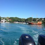 View from the speedboat