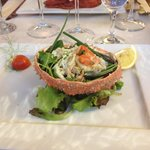 Spider crab with lemon and olive oil