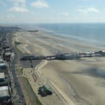 Central and South Pier from Blackpool Tower