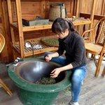 Preparing Tea Leaves by Roasting