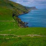 View of Antrim coast, south of Rathlin Island