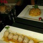 riso capesante -zafferano e verdure