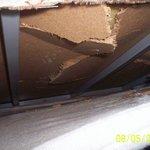 Filthy smashed beds room 12D