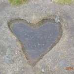 Love heart in the rocks