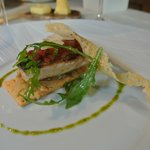 slight fried mackerel with Parmesan cheese