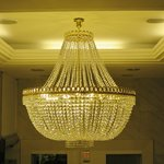 Swarowski chandelier in a loby