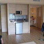 Küche und Waschbereich im Apartment