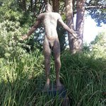 One of the awesome statues upon entering Delaire