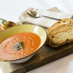 Homemade soups and bread