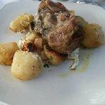 agneau, pomme de terre au four