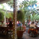 Patio at Peppers - Great Atmosphere - Historical Building