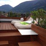 Blick über die Dachterrasse