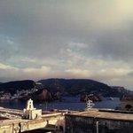 vista dal balconcino verso il porto