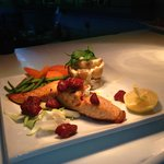 Salmon Fillet, Baby Leek, Chorizo & Crushed Potatoes