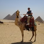 Me on a camel near the pyramids