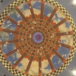 ceiling above the fountain