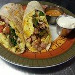 Breakfast burrito only $4