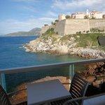 vue du balcon au bout de l'hotel