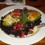 Seafood stuffed avocado relleno