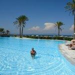 Nice quiet  pool..Seawater so easy to swim