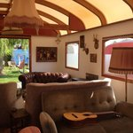 Cozy smoking lounge