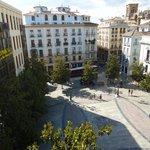 vista de plaza ayuntamiento desde salón