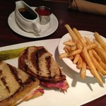 Rueban Sandwich, Fries and Gravy!  Healthy eaters aren't we! Blaze Bistro and Lounge  |  350 St.