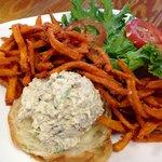 Chicken Salad w/Sweet Potato Fries
