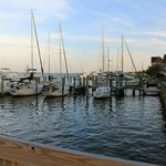 The view from the little wooden bridge. What you'll see at dinner.