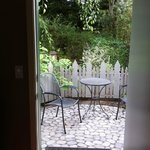 This was our patio...
