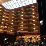 Vista desde el interior del hotel