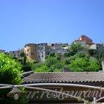 Vue de Biot depuis la terrasse