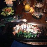 amazing bruscetta and prawn cocktail