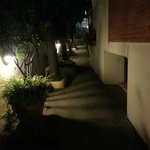 walking to the restaurant