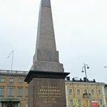 Keisarinnankivi - Monumento alla zarina Alessandra in Kauppatori (Piazza del Mercato)