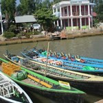 Boats to go to the lake, takes about 30 minute boat ride