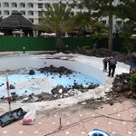 This again is the pool the hotel said was being repaired