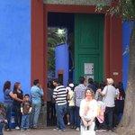 Entrada a la CASA AZUL casa museo de Frida Kahlo