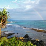 Rainbow over Paia Bay nearby