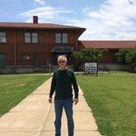 My friend, Gary, outside of the Delta Blues Museum in Clarksdale, MS