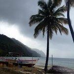 Grey Skies on Castara Bay
