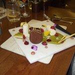 Beautifully presented dessert! Yum!